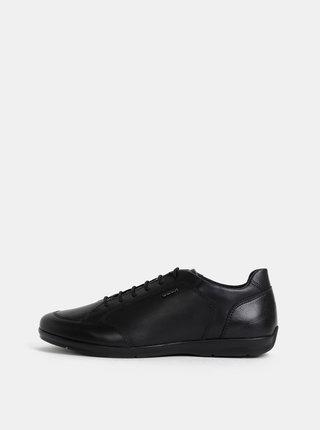 Černé pánské kožené tenisky Geox Adrien
