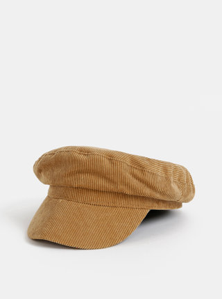 Hnedá menčestrová kapitánska čapica Pieces Helen