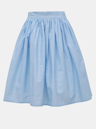 Svetlomodrá bodkovaná kruhová sukňa MONLEMON