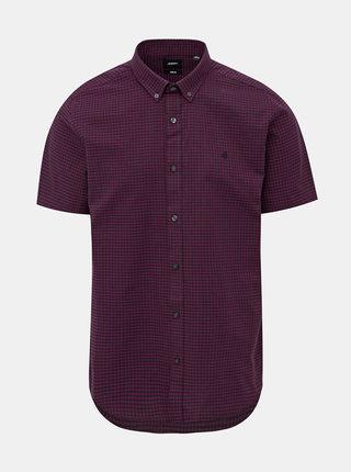 Vínová kockovaná košeľa Burton Menswear London