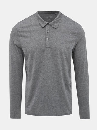 Šedé basic polo tričko Burton Menswear London
