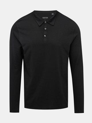 Černé basic polo tričko Burton Menswear London