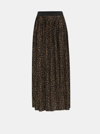 Hnědá maxi sukně s leopardím vzorem ONLY Disco