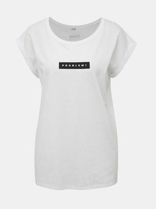Bílé dámské tričko s potiskem ZOOT Originál Problem?