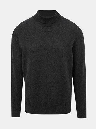 Tmavě šedý basic rolák Burton Menswear London