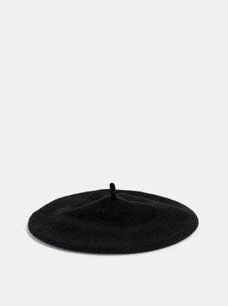 Černý vlněný baret ONLY Pure