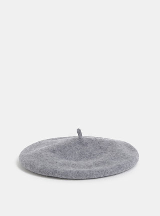 Šedý vlněný baret ONLY Pure