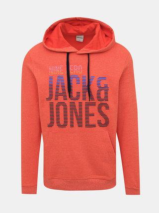 Oranžová mikina s potiskem Jack & Jones Anderson