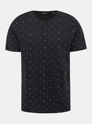 Tmavomodré vzorované tričko ONLY & SONS Boaz