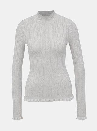 Šedý svetr se stojáčkem Miss Selfridge