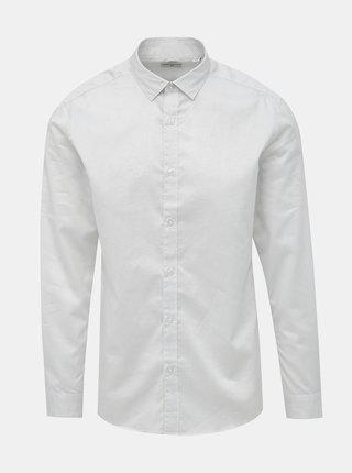 Bílá vzorovaná slim fit košile ONLY & SONS Salves
