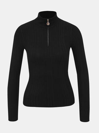 Černý svetr se stojáčkem Miss Selfridge