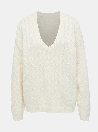 Biely sveter VILA Depart