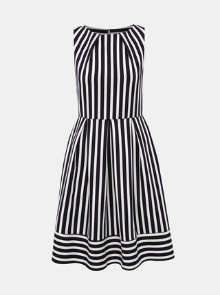 Bílo-modré pruhované šaty Closet Hackney