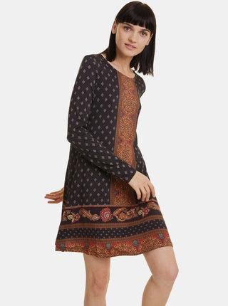 Černé vzorované šaty Desigual Camille