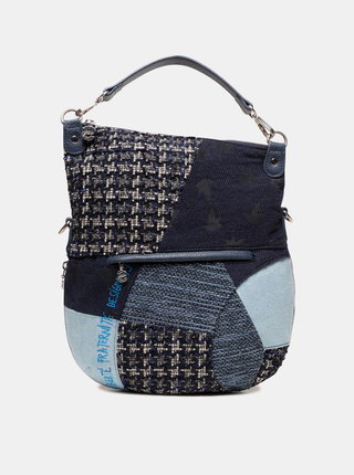 Tmavomodrá vzorovaná kabelka Desigual Liberté