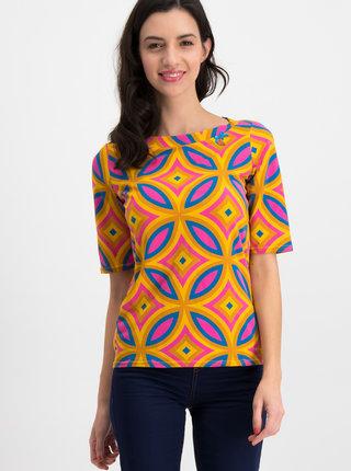 Oranžové vzorované tričko Blutsgeschwister Plastic Fantastic