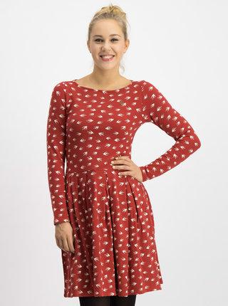 Červené vzorované šaty Blutsgeschwister True romance