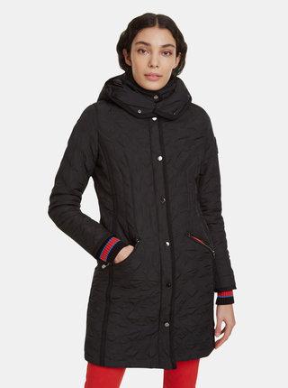 Čierny prešívaný kabát Desigual Leicester
