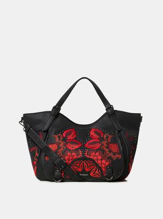 Čierna kabelka s kvetovaným vzorom Desigual