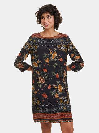 Čierne kvetované šaty Desigual Praga
