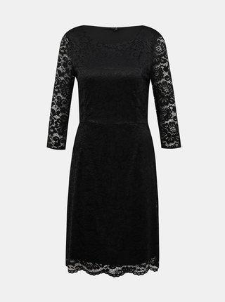 Čierne krajkové šaty VERO MODA Stella