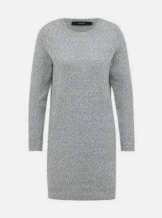 Svetlošedé svetrové šaty VERO MODA Doffy