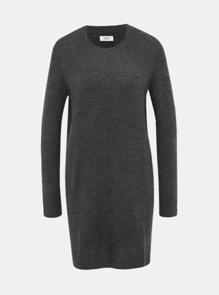 Tmavošedé svetrové šaty Jacqueline de Yong Crea