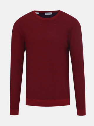 Vínový sveter Selected Homme New Jeff