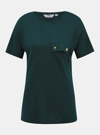Tmavě zelené tričko Dorothy Perkins Tall