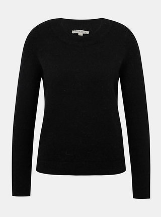 Čierny vlnený sveter Selected Femme Sia