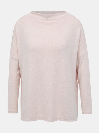 Světle růžový basic svetr ONLY Kleo