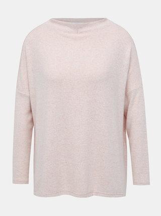 Svetloružový basic sveter ONLY Kleo