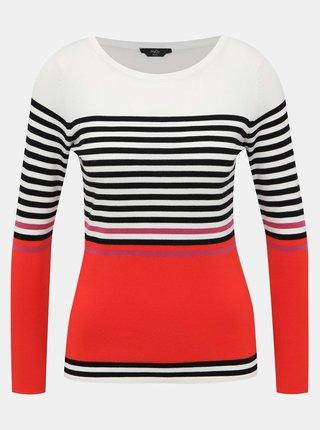 Bílo-červený pruhovaný svetr M&Co Petite