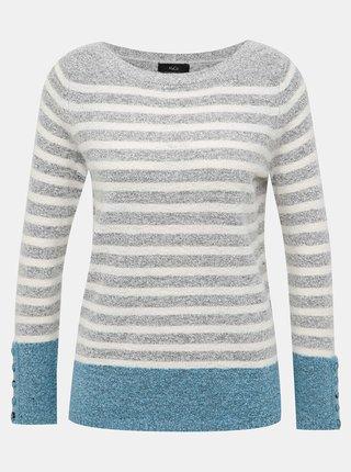 Šedý pruhovaný sveter M&Co