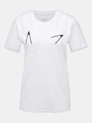 Biele dámske tričko s potlačou ZOOT Originál Kružítko