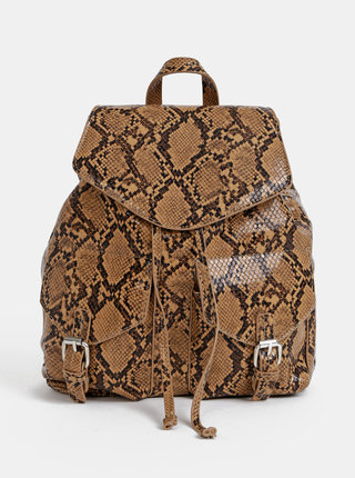 Hnedý batoh s hadím vzorom Pieces Irina