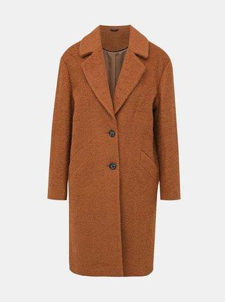 Hnědý vlněný kabát M&Co