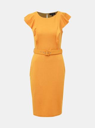 Hořčicové šaty Dorothy Perkins