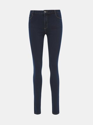 Tmavomodré skinny fit rifle Dorothy Perkins Tall Ellis