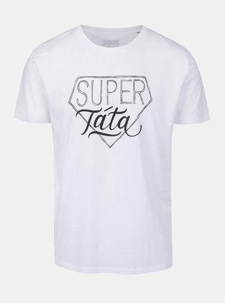 Tricou alb cu mesaj  pentru barbati - ZOOT Originál Super táta