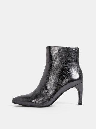 Čierne dámske kožené kotníkové topánky Vagabond Whitney
