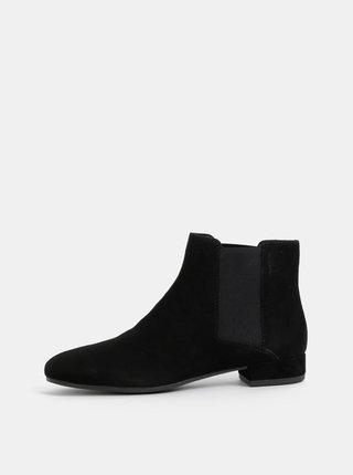 Čierne dámske semišové chelsea topánky Vagabond Suzan
