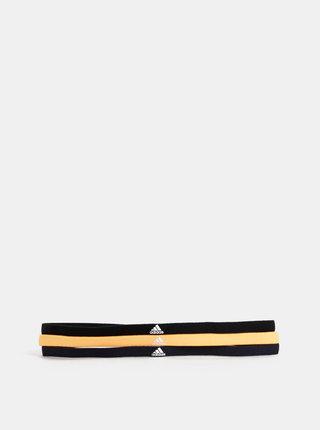 Sada tří čelenek v černé a oranžové barvě adidas Performance