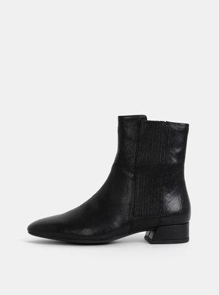 Černé dámské kožené kotníkové boty Vagabond Joyce