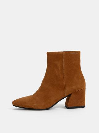 Hnedé dámske semišové členkové topánky Vagabond Olivia