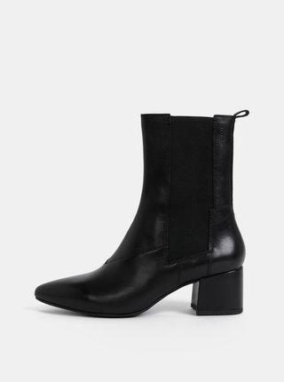 Čierne dámske kožené kotníkové topánky Vagabond Mya