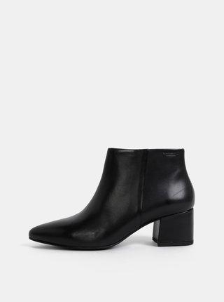 Čierne dámske kožené členkové topánky Vagabond Mya