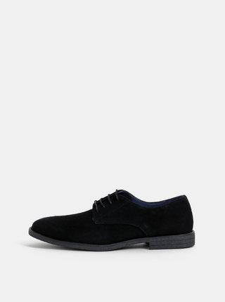 Čierne semišové topánky Burton Menswear London