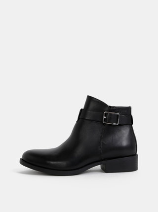 Čierne dámske kožené členkové topánky Vagabond Cary